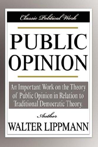 Forsiden på det genoptryk af 'Public Opinion', som jeg læser.
